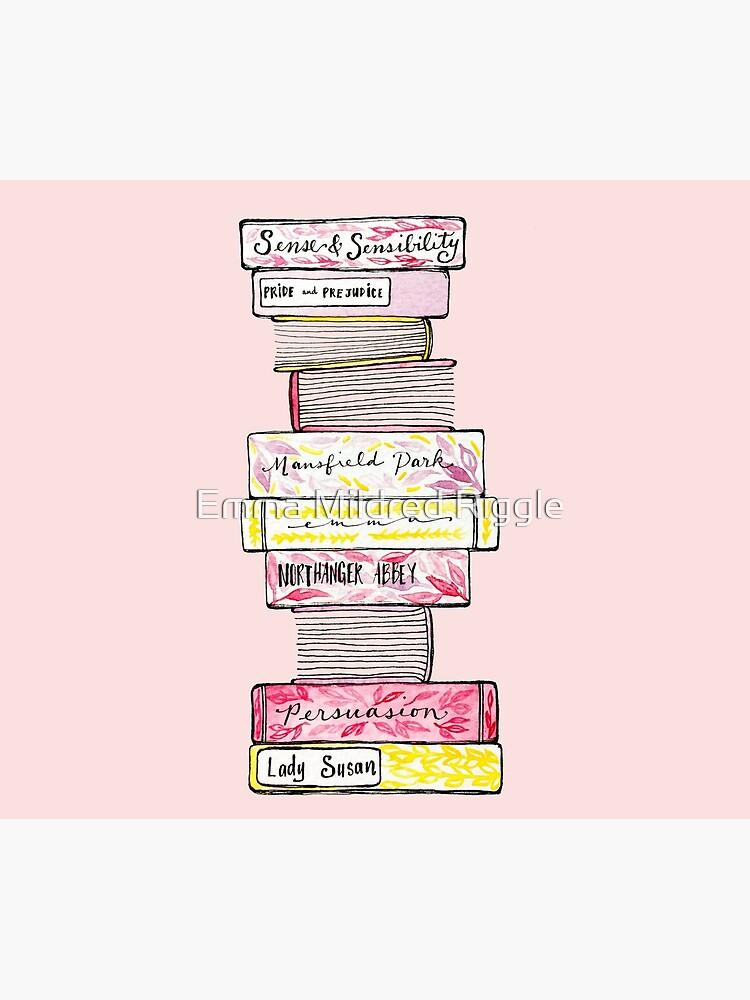 Novels of Jane Austen - Watercolor by gentlecounsel