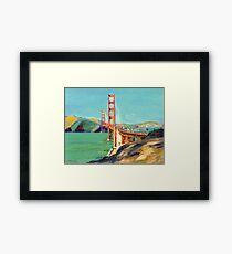 Golden Gate Bridge San Francisco California  Framed Print