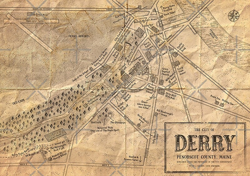 """Map of Derry, Maine 