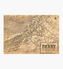 Map of Derry, Maine | Stephen Kings IT Photographic Print