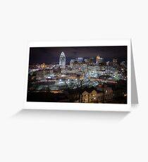 Cincinnati Skyline from Mt. Adams - Color Greeting Card