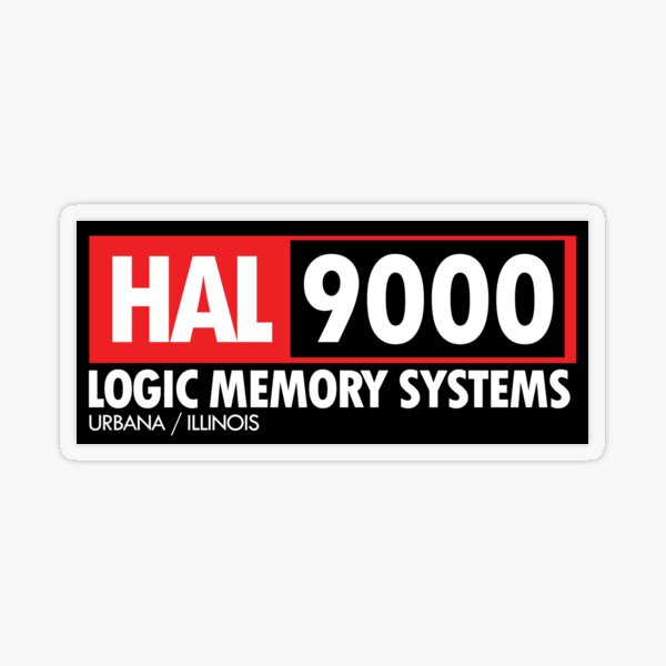 HAL 9000 Transparent Sticker