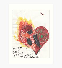 Burning Heart - Conflictions of the soul Art Print