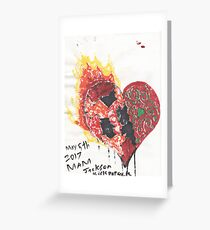 Burning Heart - Conflictions of the soul Greeting Card