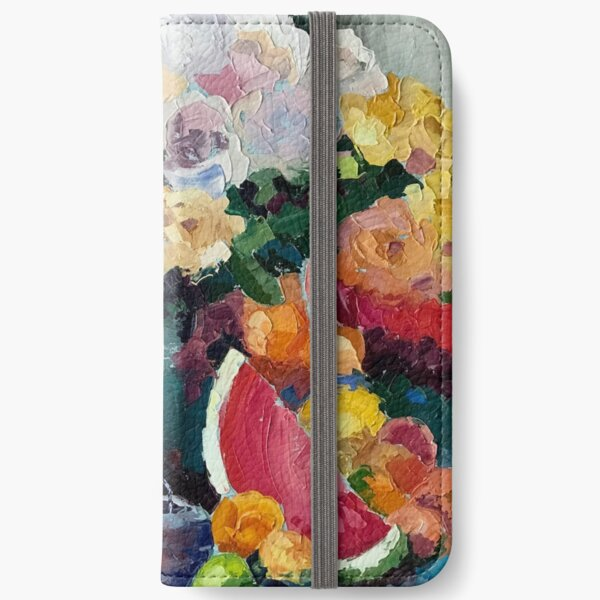 Beautiful Bounty of Flowers and Fruit iPhone Wallet
