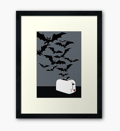 Release the bats! Framed Print
