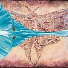 Luna Moth original OIl Painting by JLAnichowski