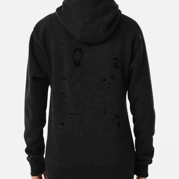 ILLUSTRATION BLACK AND WHITE Pullover Hoodie