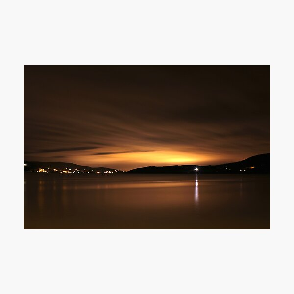 Lough Swilly at Night Photographic Print
