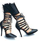 Strappy heels by Elza Fouche