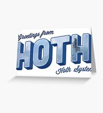 Greetings From Hoth Greeting Card