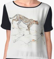 Majestic Cheetah Women's Chiffon Top