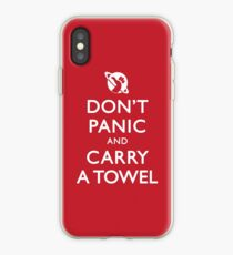 Don't Panic and Carry a Towel iPhone Case