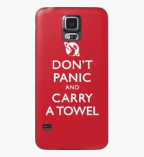 Don't Panic and Carry a Towel Case/Skin for Samsung Galaxy