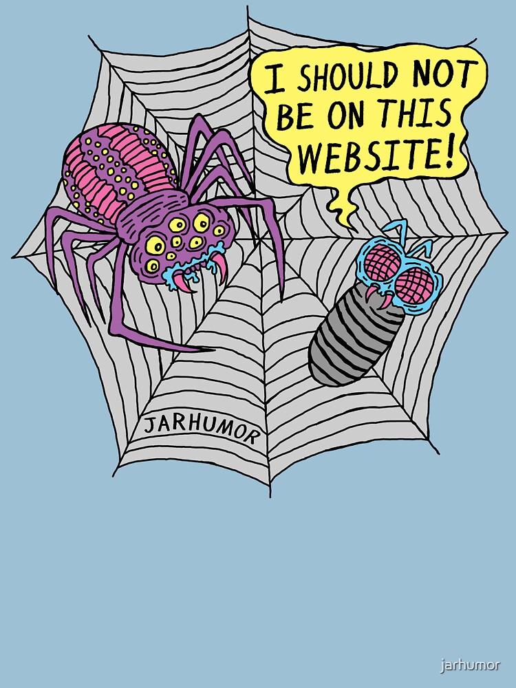 Spider Website by jarhumor