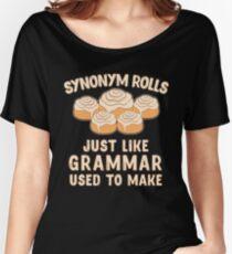 Synonym Rollen genau wie Grammatik benutzt, um Nahrungsmittelgeschenk zu machen Baggyfit T-Shirt