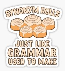 Synonym Rolls Just Like Grammar Used To Make Food Gift Sticker