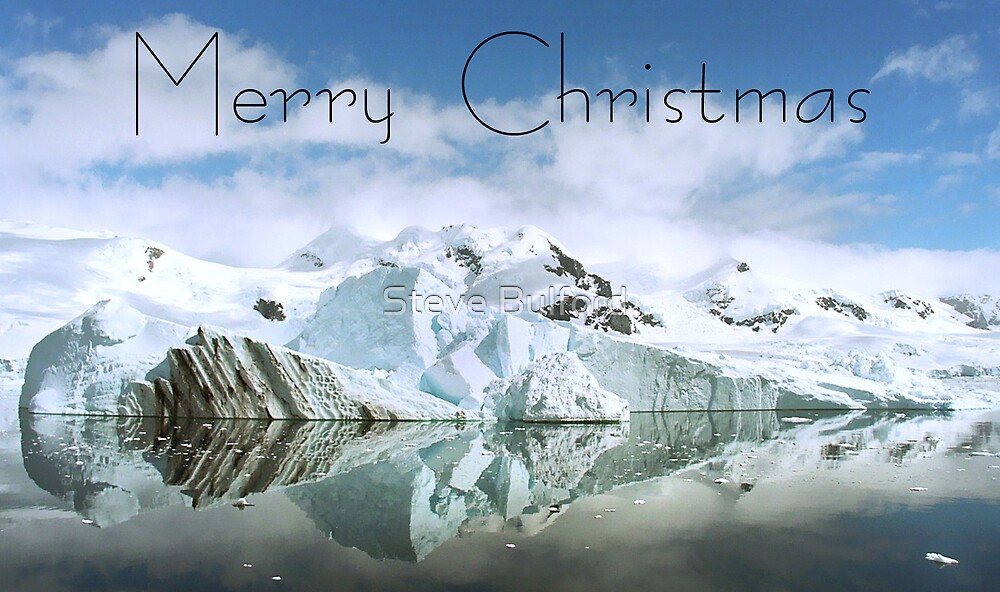 Antarctic Reflections - Christmas Card by Steve Bulford