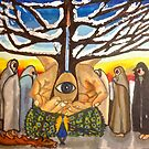Watchers at the Tree of Creation: Pagan Solstice Celebration by Pamela Spiro Wagner