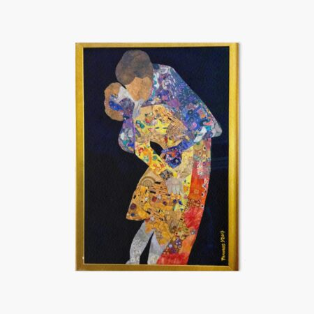Klimt: THE KISS COLLAGE #2 Art Board Print