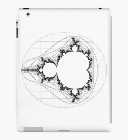 Black - Linear Mandelbrot  iPad Case/Skin