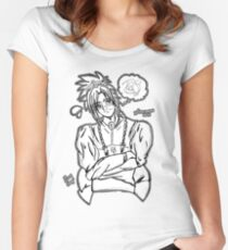 Inktober - day 19 CLOUD Women's Fitted Scoop T-Shirt