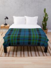 00692 Notre Dame Marching Guard Tartan Throw Blanket
