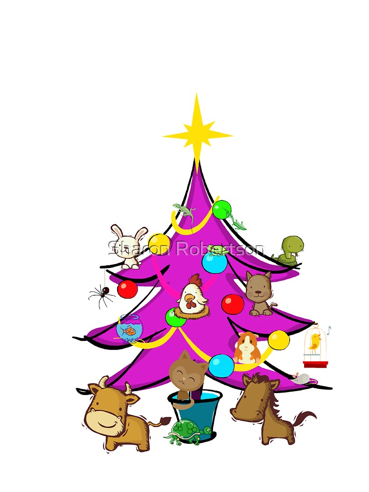 Pets in a Christmas Tree by Sharon Robertson