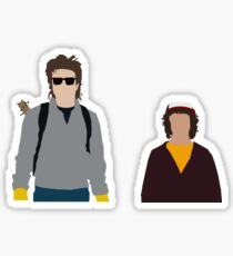 Steve and Dustin-Stranger Things Sticker
