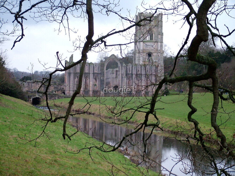 Fountains Abbey from the water gardens 2 by dougie1
