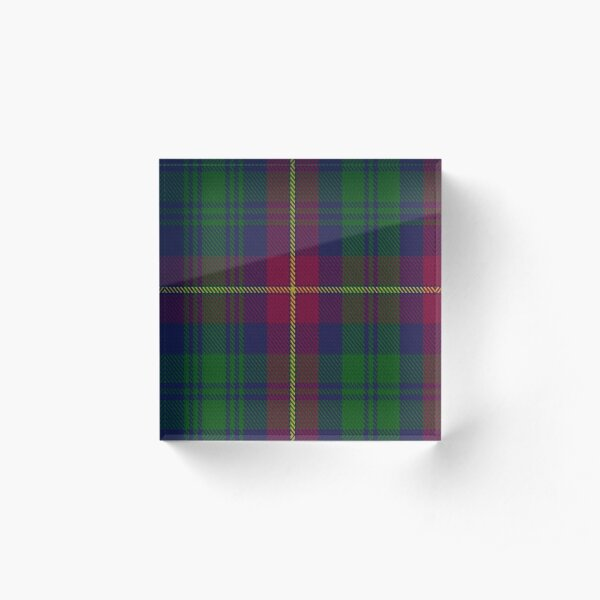 00671 Cairns of Finavon Tartan  Acrylic Block