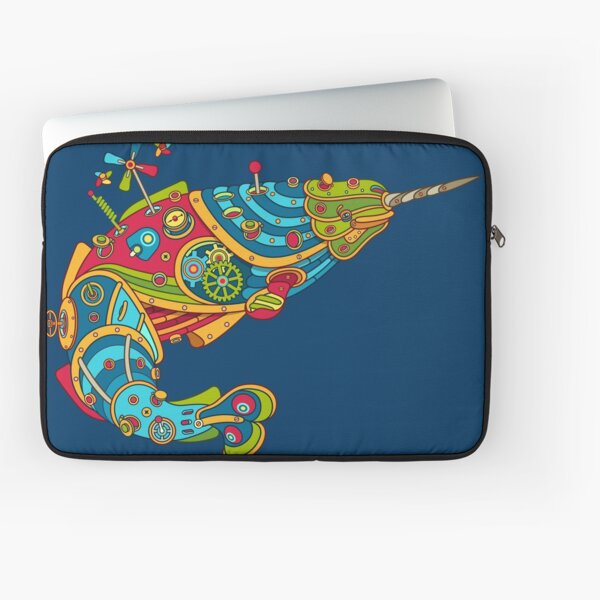 Narwhal, cool art from the AlphaPod Collection Laptop Sleeve