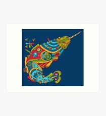 Narwhal, cool art from the AlphaPod Collection Art Print