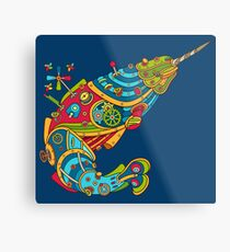 Narwhal, cool art from the AlphaPod Collection Metal Print