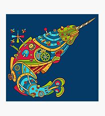 Narwhal, cool art from the AlphaPod Collection Photographic Print