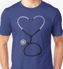 Heart Shaped Stethoscope for Doctor or Nurse Unisex T-Shirt