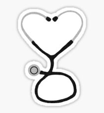 Heart Shaped Stethoscope for Doctor or Nurse Sticker