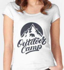 Outdoor Camp Women's Fitted Scoop T-Shirt