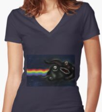 Nyan-lathotep Fitted V-Neck T-Shirt