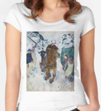 """Edvard Munch """"Galloping Horse"""", 1910–12.  Women's Fitted Scoop T-Shirt"""