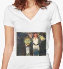 """Edvard Munch """"Jealousy"""", 1907 Women's Fitted V-Neck T-Shirt"""