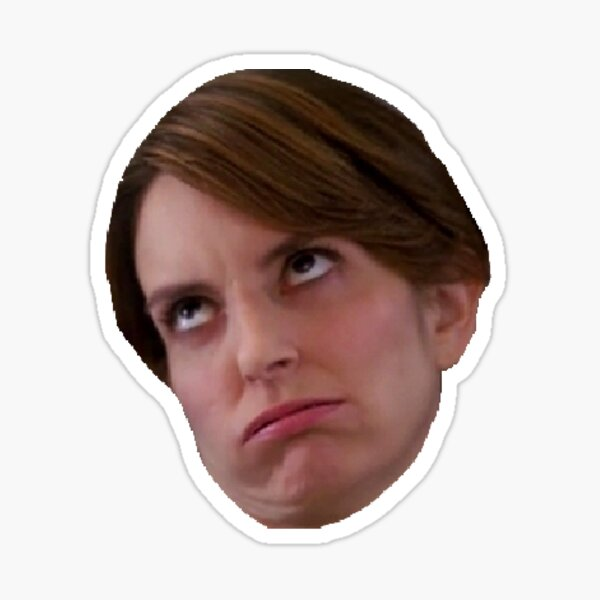 Tina Fey eyeroll Sticker