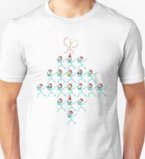 Icon Face Emoji Christmas tree Funny Xmas Emotion Unisex T-Shirt