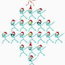 Icon Face Emoji Christmas tree Funny Xmas Emotion by bestdesign4u