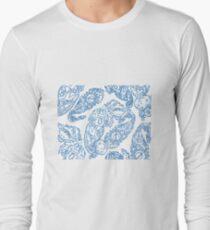 Cosmic Paisley lt blu Long Sleeve T-Shirt