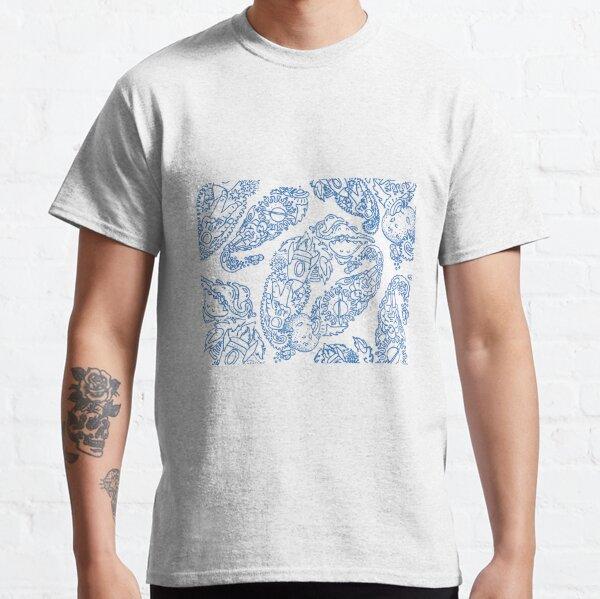 Cosmic Paisley lt blu Classic T-Shirt