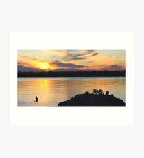 Autumn Sunset On The Lake Art Print