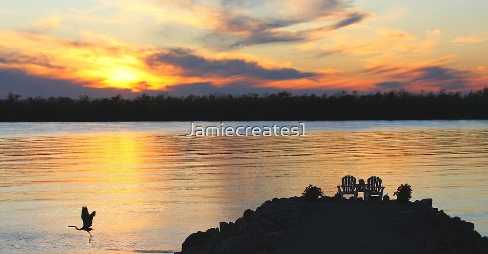Autumn Sunset On The Lake by Jamie Wogan Edwards