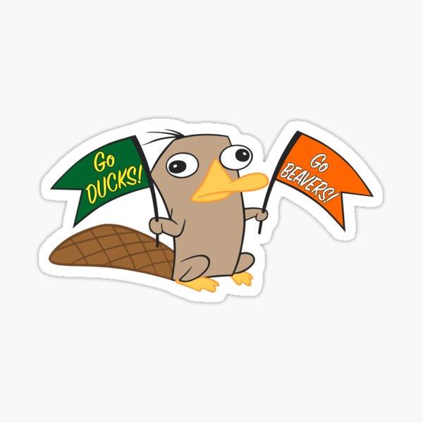 #1 Platypus Fan Sticker