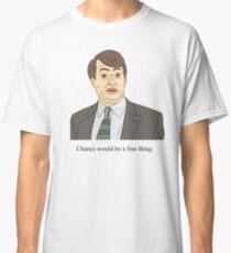 Camiseta clásica Mark Corrigan | La suerte sería una buena cosa